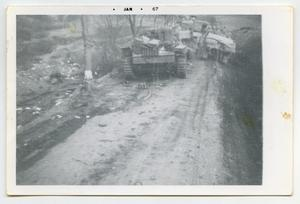 Primary view of object titled '[Photograph of a German Tank]'.