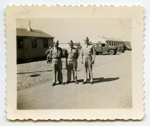 Primary view of object titled '[Photograph of Three Soldiers]'.