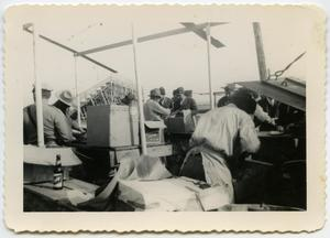 Primary view of object titled '[Photograph of a Cookout at Double Heart Ranch]'.