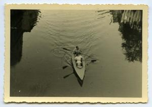 Primary view of object titled '[Photograph of Kayak]'.