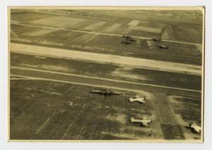 Primary view of object titled '[Photograph of Airplanes in Field]'.