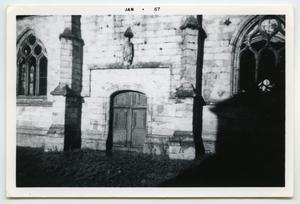 Primary view of object titled '[Photograph of a Church at Aufay]'.
