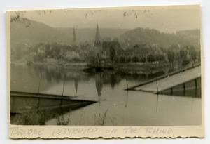 Primary view of object titled '[A Destroyed Bridge Over the Rhine]'.