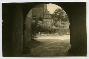 Primary view of object titled '[Looking Under a Bridge Archway]'.