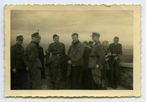 Primary view of object titled '[Photograph of Soldiers at Overlook]'.