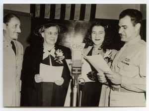 Primary view of object titled '[Photograph of Andre Baruch, Verna Kieser, Edna Maue, and Warren Maue]'.