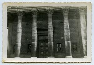 Primary view of object titled '[Photograph of Building in Greek Architectural Style]'.