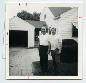 Primary view of object titled '[Photograph of Fred Bixby and Norm Davies]'.