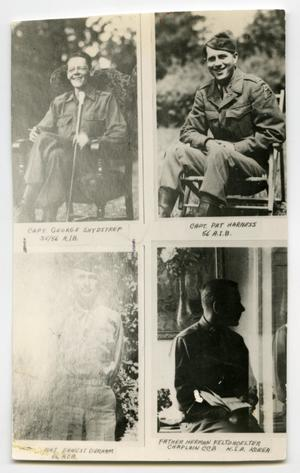Primary view of object titled '[Photograph of Four Soldiers]'.