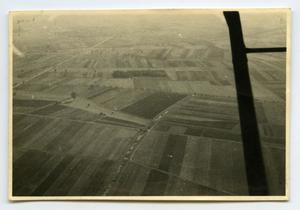 Primary view of object titled '[Aerial Photograph of Farm Fields]'.