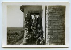 Primary view of object titled '[Third Platoon in a Doorway]'.