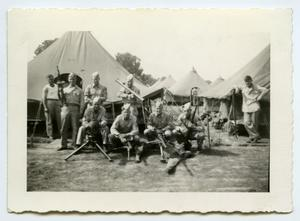 Primary view of object titled '[Photograph of Armed Soldiers]'.