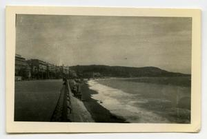 Primary view of object titled '[Photograph of a Road Next to a Beach]'.