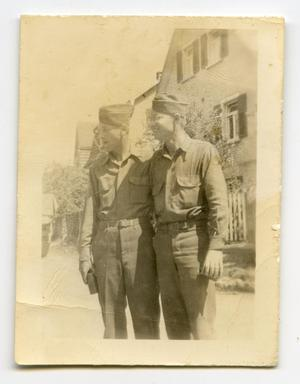 Primary view of object titled '[Photograph of Homer Petross with Friend]'.