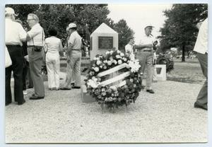 Primary view of object titled '[Photograph of a Memorial]'.