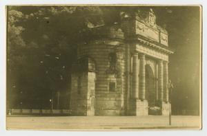 Primary view of object titled '[Photograph of a Small Mausoleum]'.