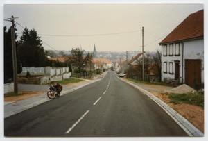 Primary view of object titled '[Looking at Rohrbach from Bining, France]'.