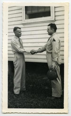 Primary view of object titled '[Photograph of a Lieutenant and a Senior Officer]'.