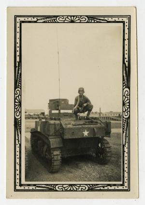 Primary view of object titled '[Man On Tank With Rifle]'.