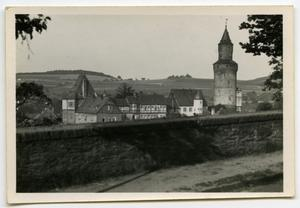 Primary view of object titled '[Photograph of a Village]'.