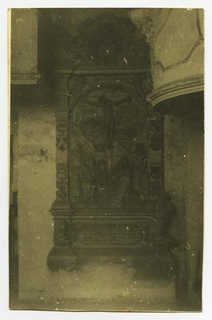 Primary view of object titled '[Postcard of a Christian Artifact]'.