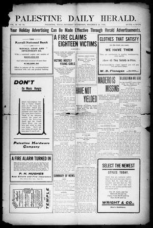 Palestine Daily Herald (Palestine, Tex), Vol. 9, No. 94, Ed. 1, Saturday, November 26, 1910