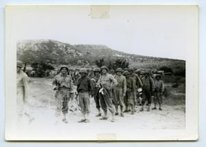 Primary view of object titled '[Photograph of a Chow Line with C/56]'.