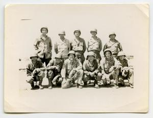 Primary view of object titled '[Eleven Soldiers Pose for a Group Photograph]'.