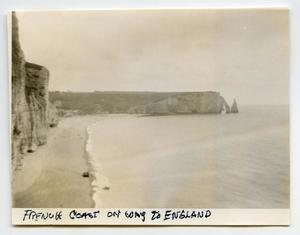 Primary view of object titled '[Looking Along the French Coast]'.