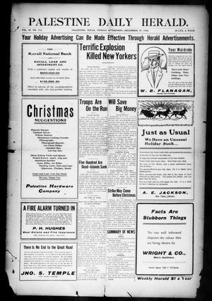 Primary view of object titled 'Palestine Daily Herald (Palestine, Tex), Vol. 9, No. 113, Ed. 1, Monday, December 19, 1910'.