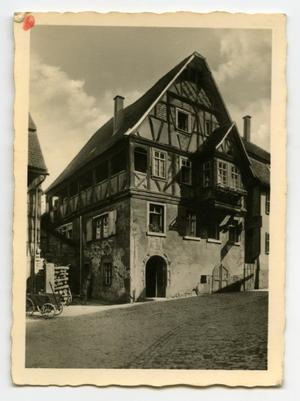 Primary view of object titled '[Photograph of European Home]'.