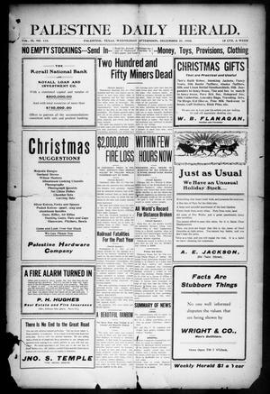 Palestine Daily Herald (Palestine, Tex), Vol. 9, No. 115, Ed. 1, Wednesday, December 21, 1910