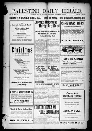 Palestine Daily Herald (Palestine, Tex), Vol. 9, No. 116, Ed. 1, Thursday, December 22, 1910