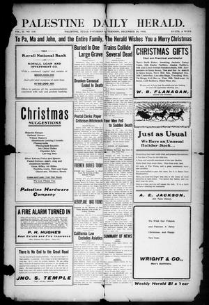 Primary view of object titled 'Palestine Daily Herald (Palestine, Tex), Vol. 9, No. 118, Ed. 1, Saturday, December 24, 1910'.