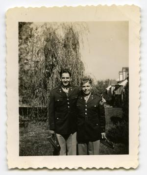 Primary view of object titled '[Photograph of Two Soldiers]'.