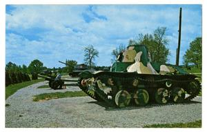 Primary view of object titled '[Postcard of Camo Tank]'.