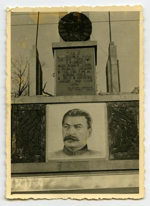 Primary view of object titled '[A Painting of Joseph Stalin]'.
