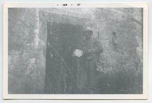 Primary view of object titled '[Photograph of a Dynamite Trap]'.