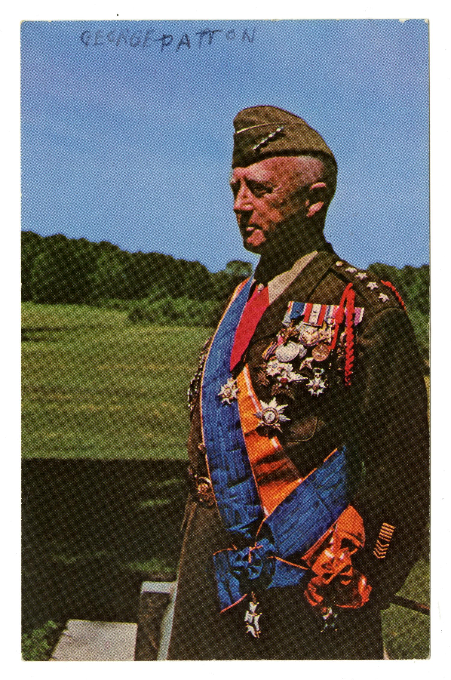 Postcard Of General George Patton The Portal To Texas