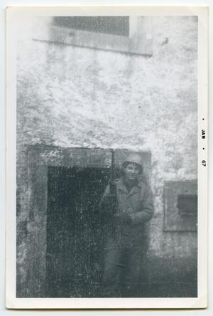Primary view of object titled '[Photograph of a Soldier from C Co]'.