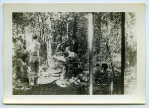 Primary view of object titled '[A Group of Soldiers Relaxing in a Forest]'.