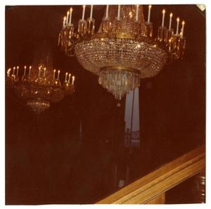 Primary view of object titled '[Photograph of Chandeliers]'.