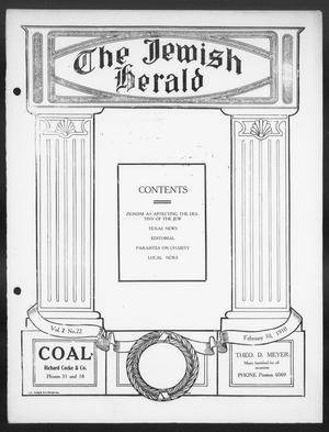 The Jewish Herald (Houston, Tex.), Vol. 2, No. 22, Ed. 1, Thursday, February 10, 1910