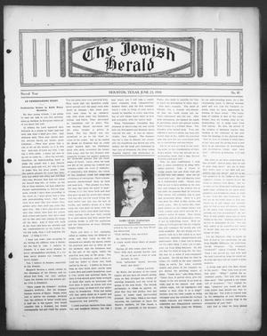 Primary view of object titled 'The Jewish Herald (Houston, Tex.), Vol. 2, No. 41, Ed. 1, Thursday, June 23, 1910'.