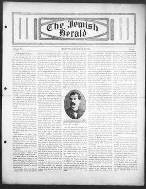 The Jewish Herald (Houston, Tex.), Vol. 2, No. 42, Ed. 1, Thursday, June 30, 1910