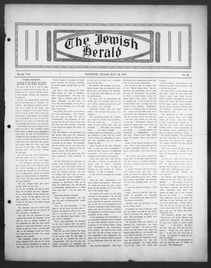 Primary view of object titled 'The Jewish Herald (Houston, Tex.), Vol. 2, No. 46, Ed. 1, Thursday, July 28, 1910'.