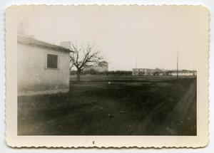 Primary view of object titled '[Photograph of an Army Post]'.
