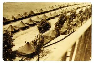 Primary view of object titled '[Photograph of Tent City]'.