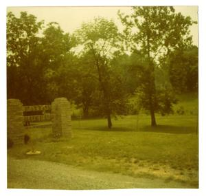 Primary view of object titled '[Photograph of Patton Museum Sign]'.