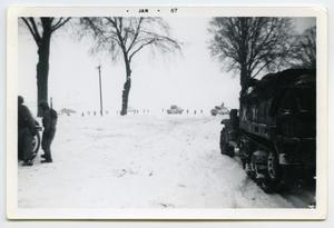 Primary view of object titled '[Photograph of an Encounter at Le Crest]'.